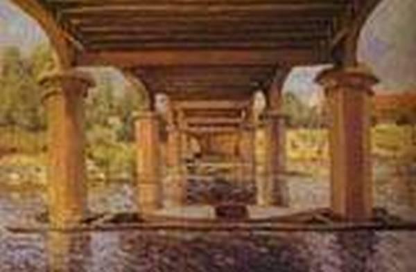 under the bridge at hampton court 1874 XX kunstmuseum winterthur switzerland